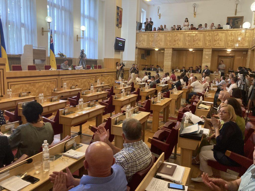 Щойно в Ужгороді розпочалось друге пленарне засідання третьої сесії обласної ради VІІІ скликання.