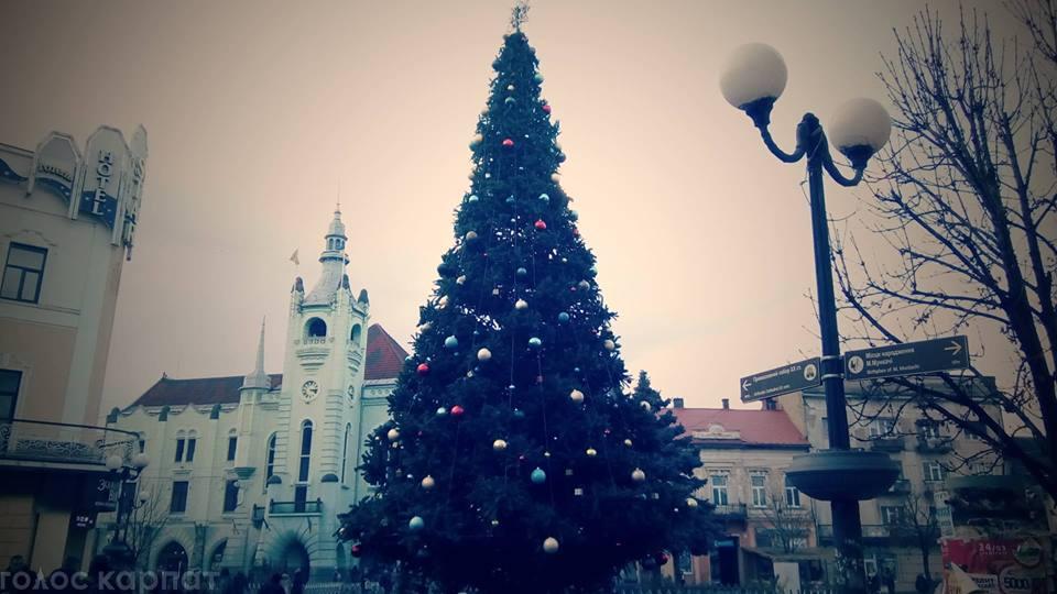 Мукачево розпочинає святкувати новорічно-різдвяні свята.
