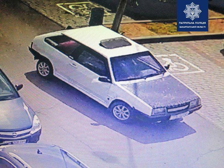 Відділом розшуку та опрацювання матеріалів ДТП управління патрульної поліції в Закарпатській області розшукується автомобіль ВАЗ 2108.