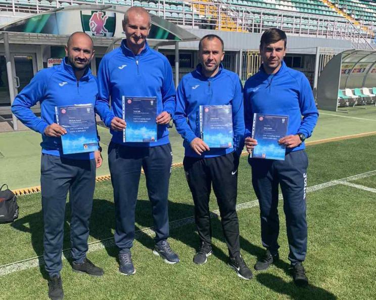 Закарпатські коучі, які тренують футбольні клуби, отримали вищу кваліфікацію.