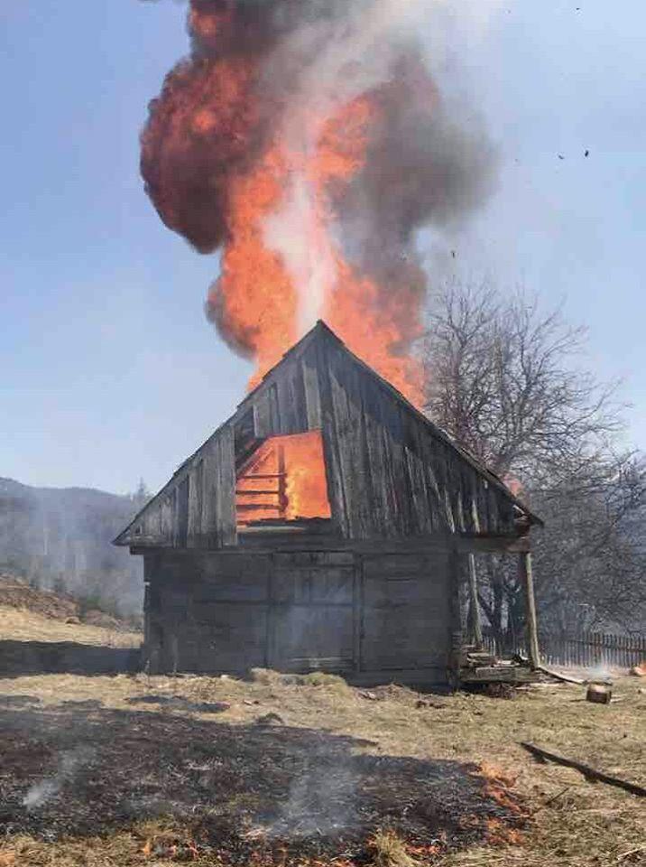 Пожежа сталася внаслідок спалювання місцевими жителями сухої трави.