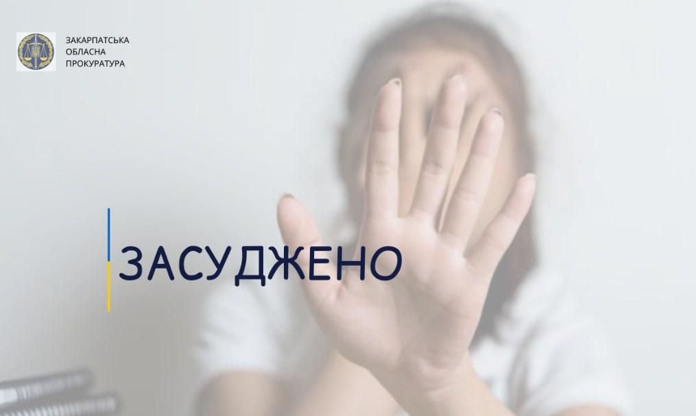 Свалявським районним судом 45-річного місцевого жителя засуджено до 150 годин громадських робіт за вчинення домашнього насильства (ст. 126-1 КК України).