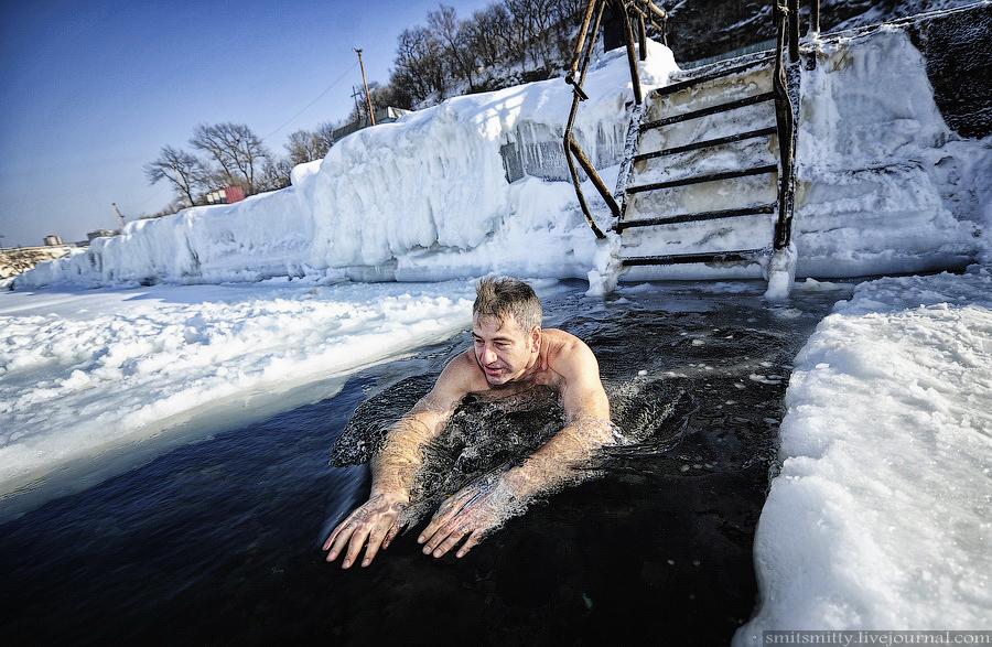 зимние купания фото и видео