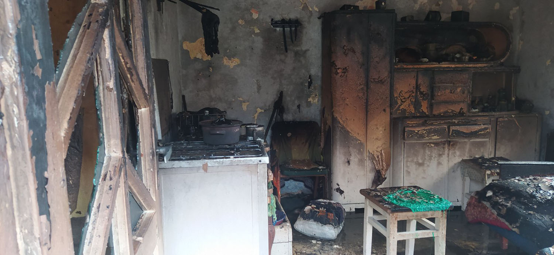 В селе Балажгер 94-летний хозяин дома погиб при пожаре.