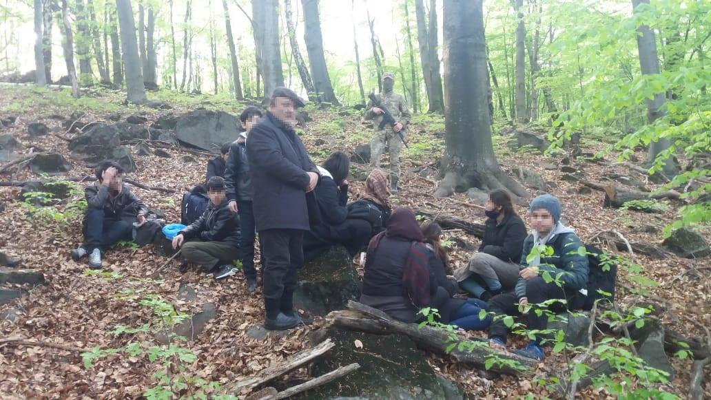 Групу незаконних мігрантів, які прямували територією України до Євросоюзу, затримали декілька днів тому прикордонники відділу «Ужгород» на Закарпатті.