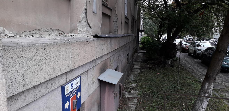 В Ужгороді з історичної будівлі Нацбанку вкрали мідні підвіконники.