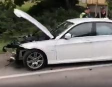 Патрульні Мукачівщини виявили при дорозі черговий розбитий у ДТП легковик