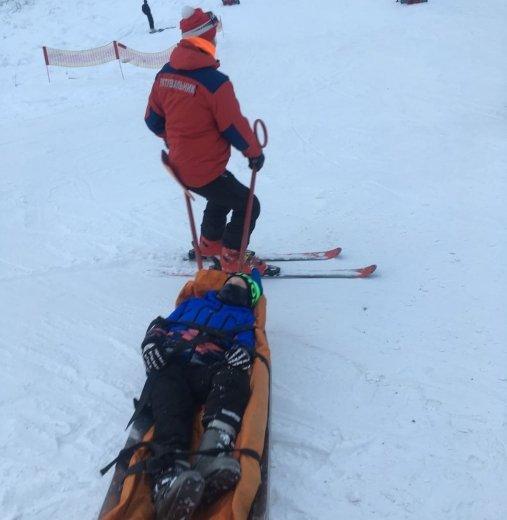 На горі Красія Великоберезнянського району травмувались під час катання на лижах троє дітей.