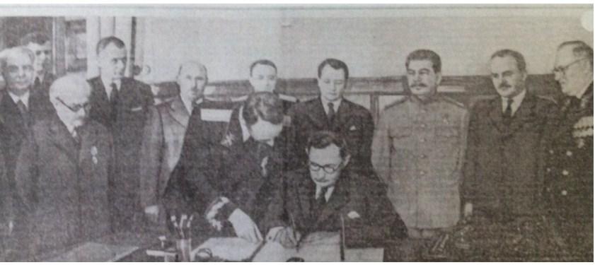 Тоді територію нинішнього Закарпаття від'єднади від Чехословаччини і приєднали до Радянського союзу.
