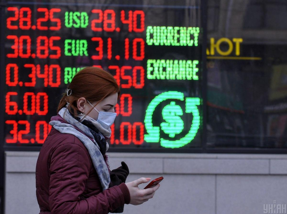 Курс долара ослаб до 27,85 гривні, тоді як курс євро зміцнився до 33,65 гривні.