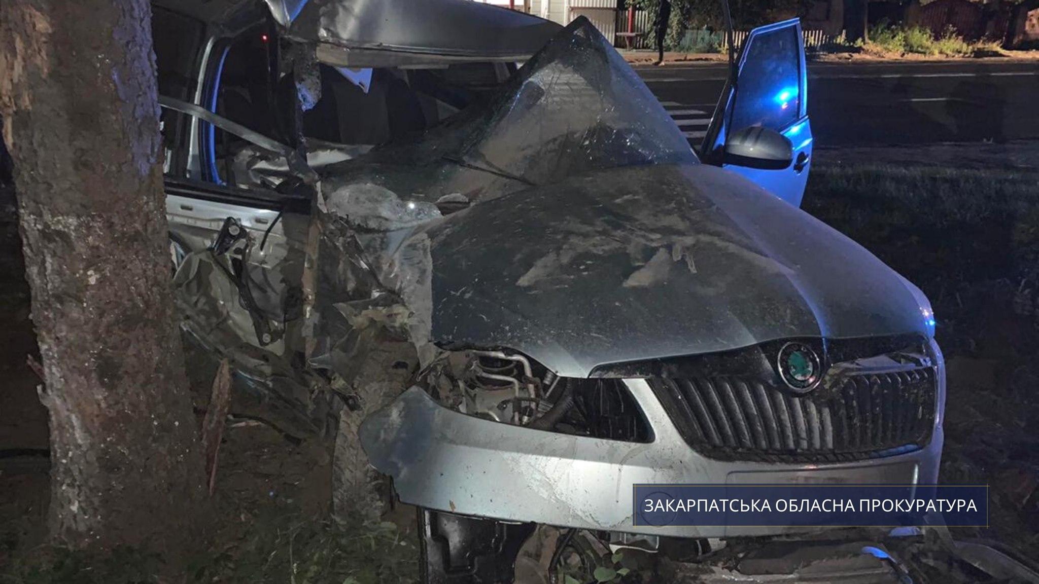 Ужгородська місцева прокуратура погодила підозру 23-річній ужгородці в порушенні правил безпеки дорожнього руху, що спричинило смерть потерпілого (ч. 2 ст. 286 КК України).