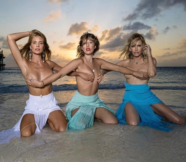 Ксенія Собчак з подругами зробила відвертий кадр - вони сфотографувалися на пляжі напівоголеними.