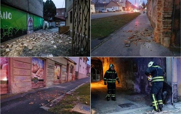 В нескольких хорватских городах произошли сильные подземные толчки, а некоторые дома были повреждены.