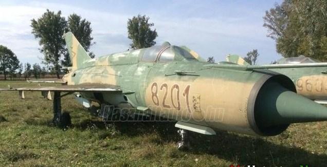 Сайт player.hu інформував про пропозицію по продажу військового МіГ-21 - радянського легкого надзвукового багатоцільового винищувача третього покоління, 1980 року випуску.