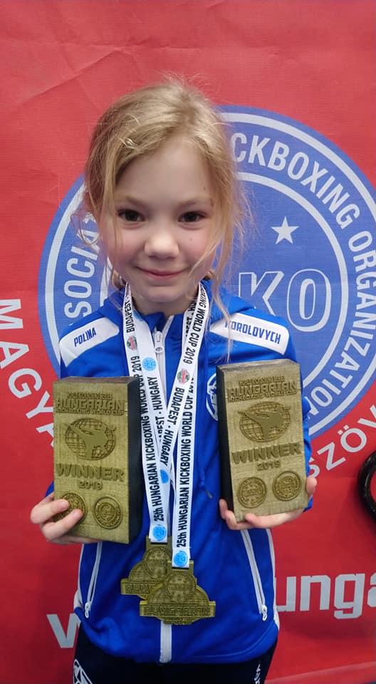 Поліна Королович з Ужгорода перемогла на турнірі в Угорщині, де наразі тривають бої в Кубку Світу.
