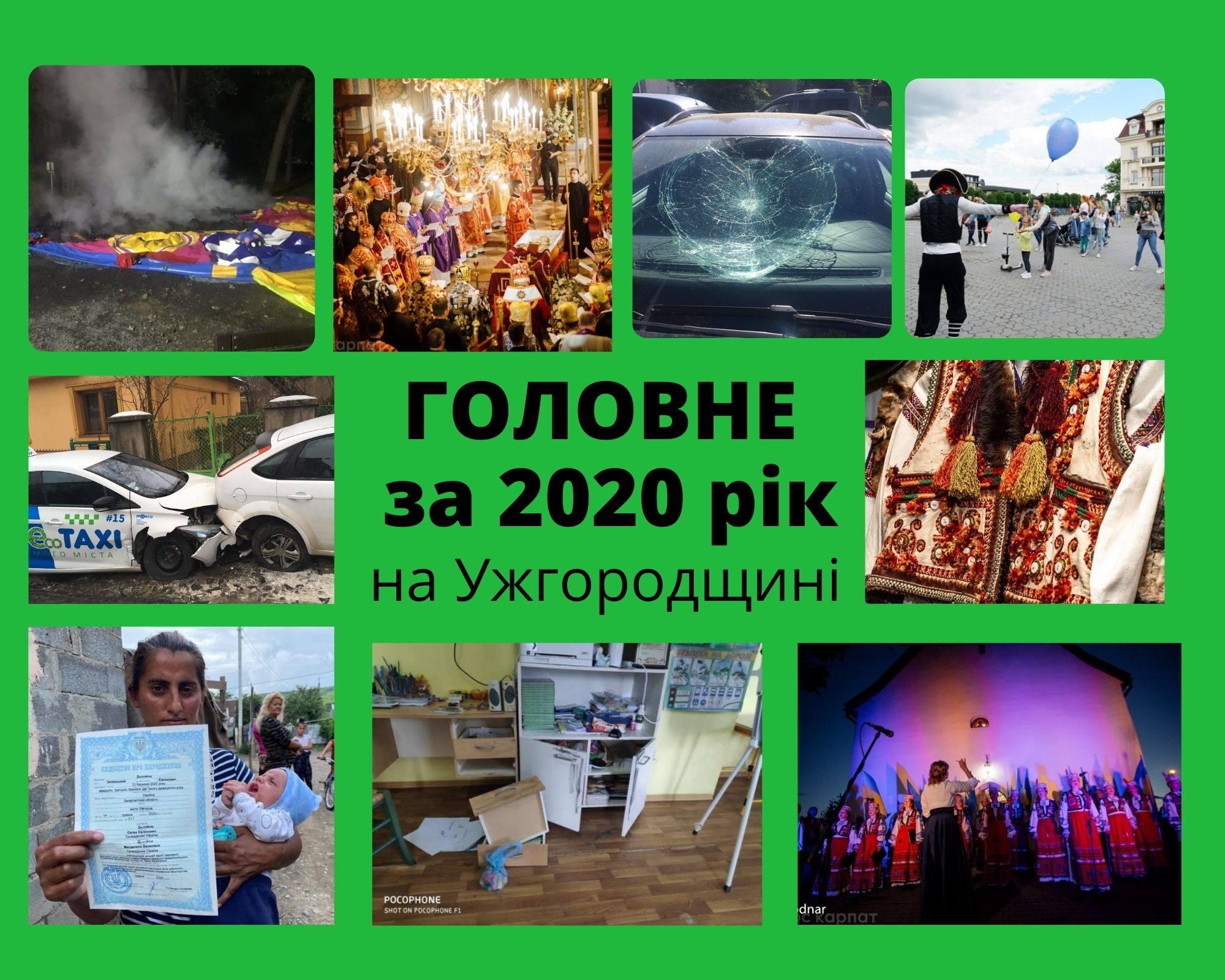 Голос Карпат продовжує серію публікацій ''Головне за рік'' про події 2020-го у розрізі районів Закарпаття.