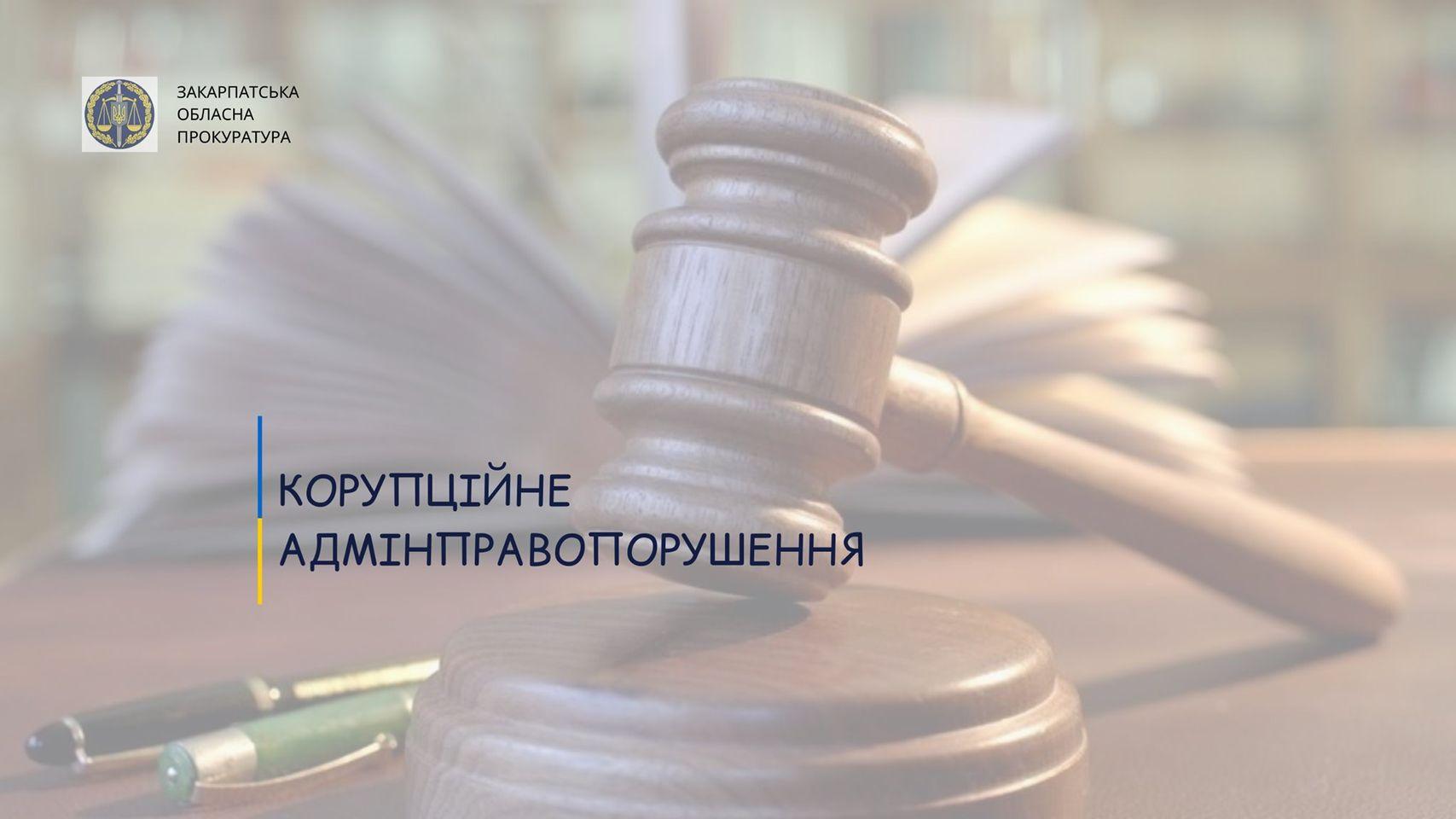 Вчинення корупційного адмінправопорушення: прокуратура довела вину начальника Берегівського міжрайонного управління водного господарства.