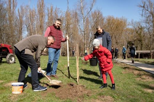 Ужгород сьогодні приєднався до Всеукраїнської акції з озеленення «Greening of the Planet».
