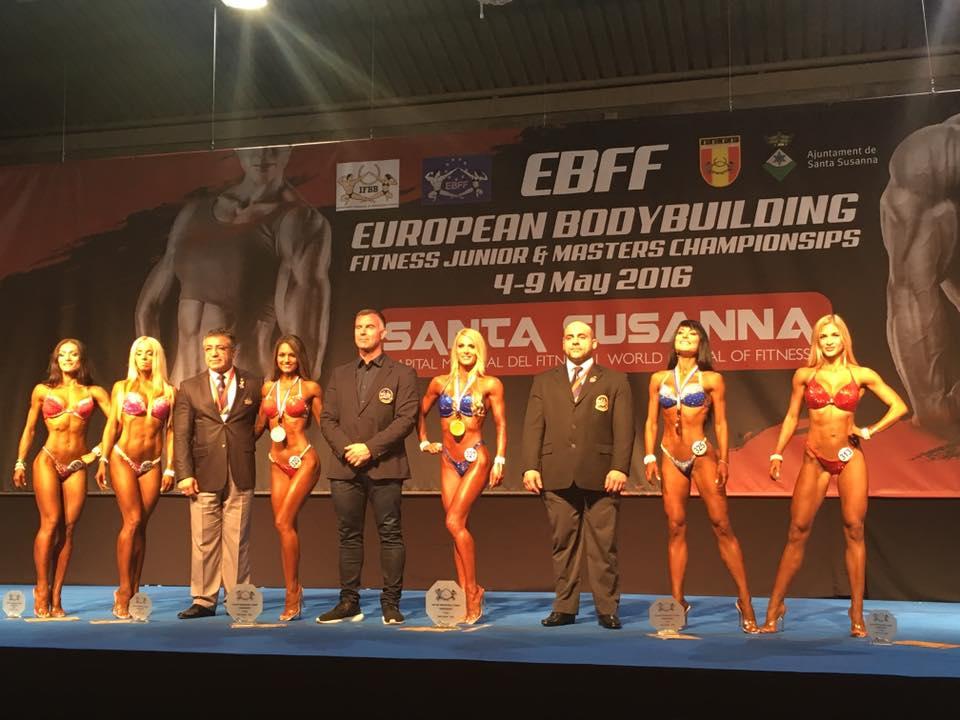 Молодець! Ужгородка увійшла у ТОП-6 на Чемпіонаті Європи з бодібілдингу і фітнесу