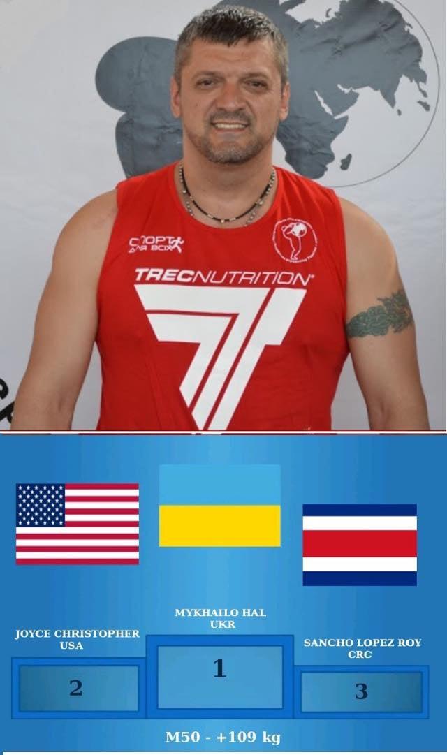 Виноградівчанин Михайло Гал виборов перше місце на Чемпіонаті світу з важкої атлетики.