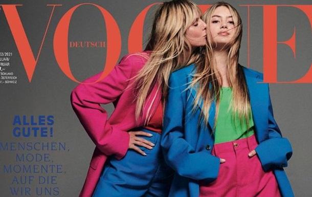 Зіркова мати підтримала свою 16-річну дочку Лені під час її першої фотосесії для німецького Vogue.