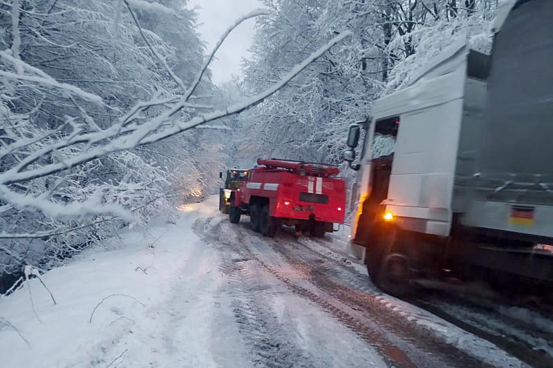 25 січня до Служби порятунку надійшло повідомлення про те, що вантажний автомобіль