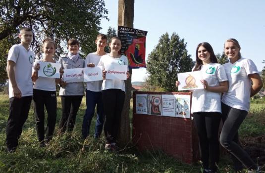 Учні Дубриницької ЗОШ на Перечинщині взяли участь у проєкті «Zero Waste School Ukraine» (ФОТО)