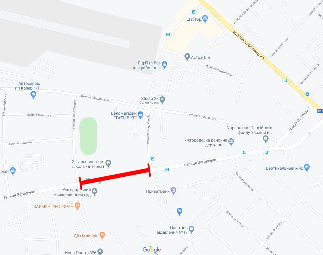 На перекрестке улиц Загорской и Закарпатской в Ужгороде установят новый светофор и расширят проезжую часть.