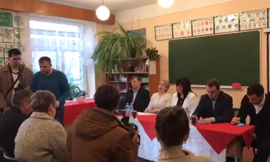 Лілія Гриневич зустрілася з вчителями Яношівської ЗОШ на Берегівщині