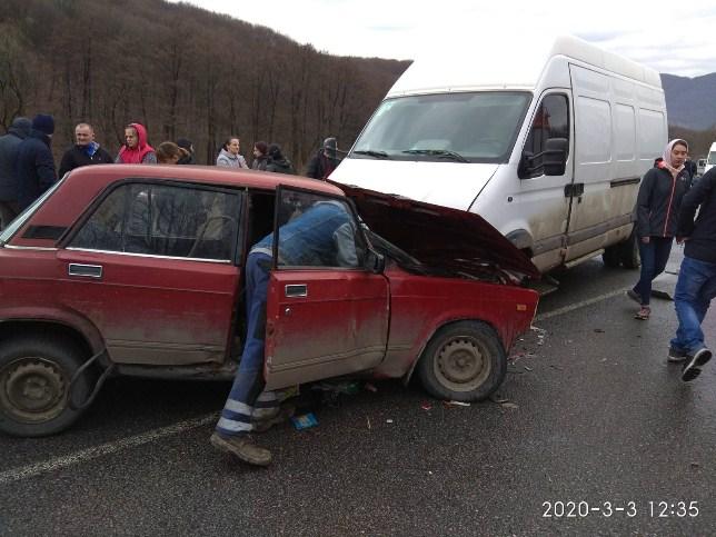Аварія сталася на дорозі в селі В.Копаня.