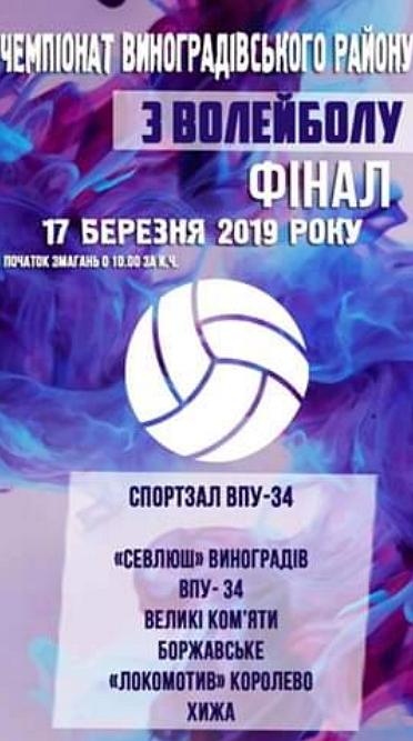 Фінал волейбольної першості Виноградівщини відбудеться 17 березня