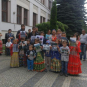 Роми з Виноградівщини пікетували управління поліції через протиріччя в таборі (ФОТО)
