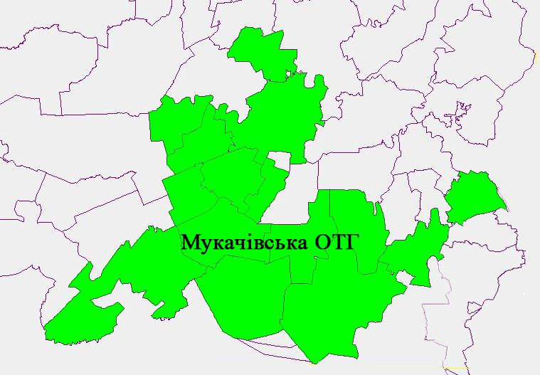Перелік сільських рад, які увійдуть до складу Мукачіської ОТГ за перспективним планом.