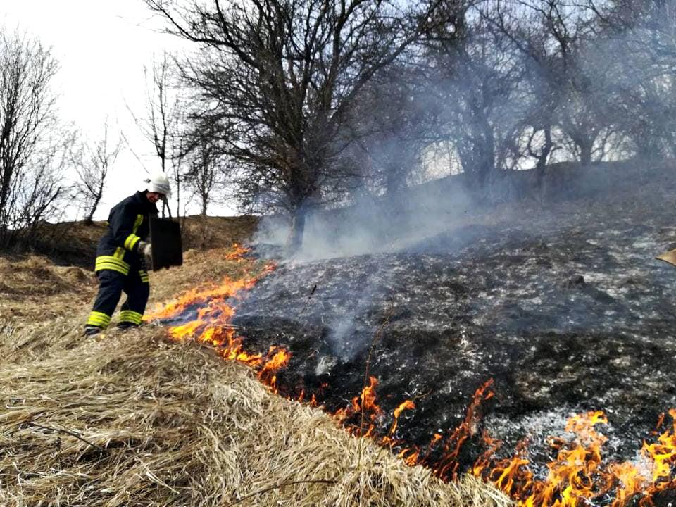 Закарпатські вогнеборці продовжують виїжджати на гасіння пожеж сухої трави, чагарників та сміття.