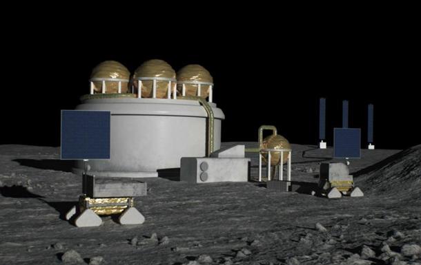 Завод будет расположен недалеко от южного полюса Луны, где, по мнению ученых, должны находиться залежи льда.
