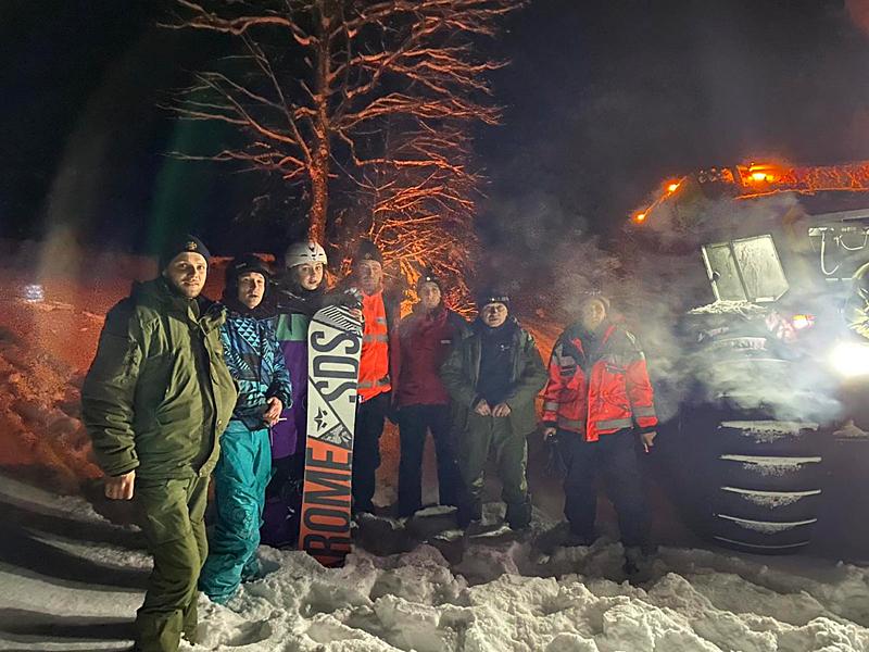 Протягом післяобідньої пори та ввечері 31 січня на Рахівщині в районі полонини Драгобрат заблукали п'ятеро туристів.
