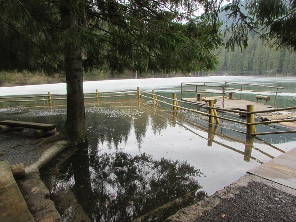 Рівень води в озері Синевир піднявся на декілька метрів