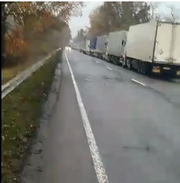 Черга на виїзд з України до Угорщини.