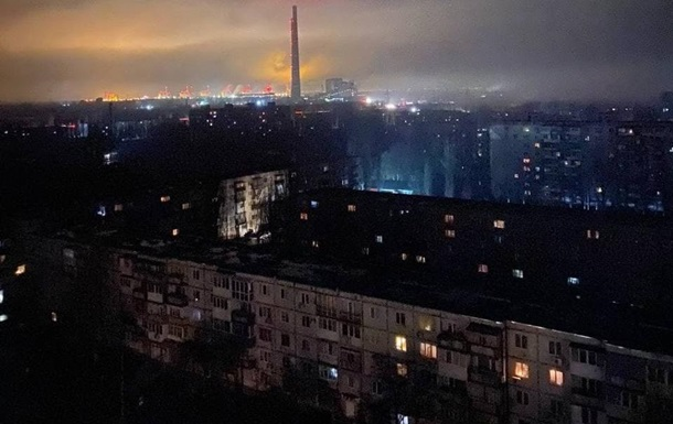 НП трапилася на теплоелектростанції у Запорізькій області. По усьому місту і в сусідніх населених пунктах немає світла, води і проблеми з мобільним зв'язком.