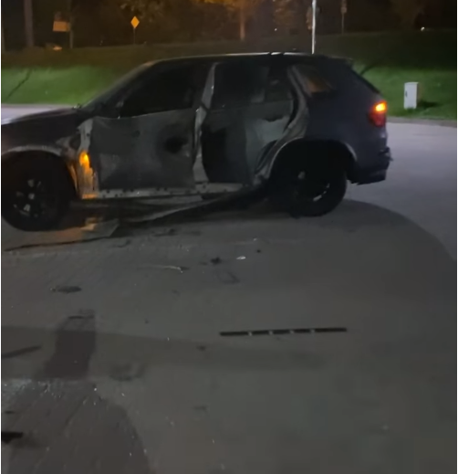 Поряд з залишками автомобіля знайшли елементи гранати до РПГ.