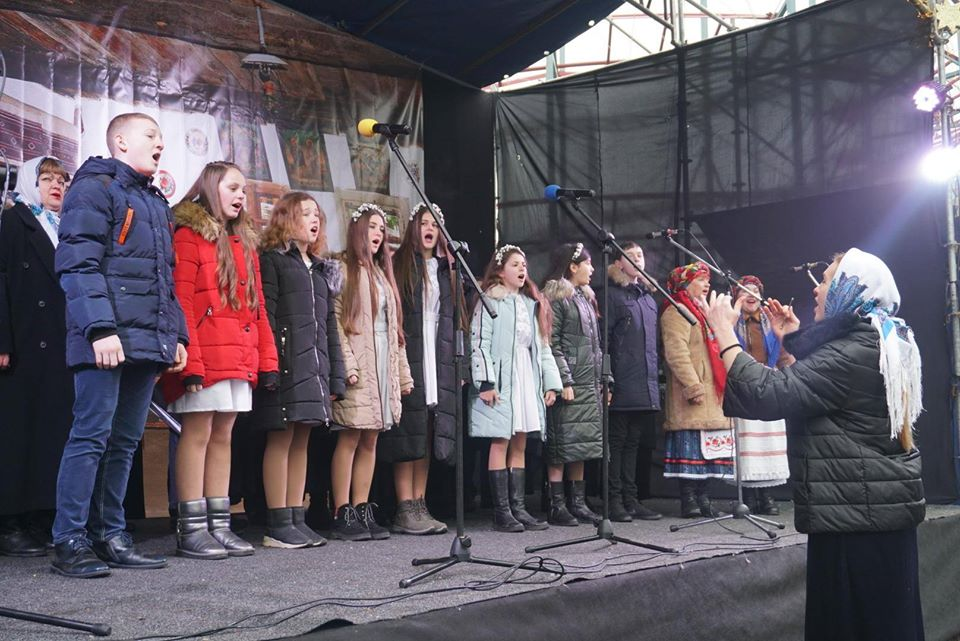 До всеукраїнського різдвяного флешмобу місто приєдналося вже вдруге.