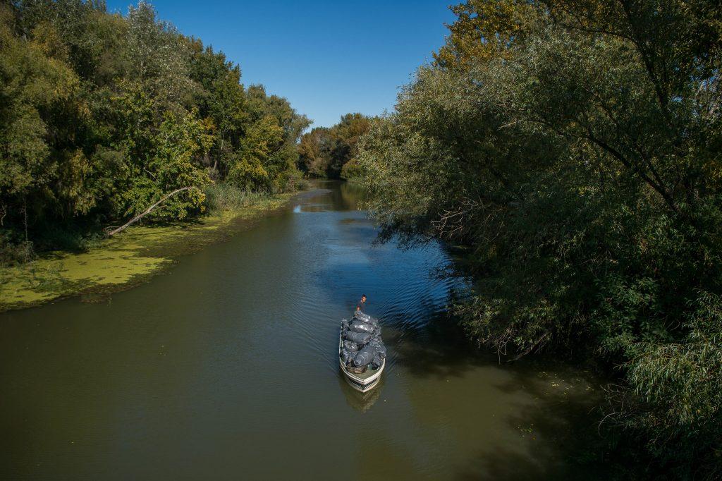 Бенце Парді, 32-річний офіціант, який проводив дитинство купаючись в річці Тиса, звільнився з роботи, щоб почати збирати пластикові відходи на озері Тиса.