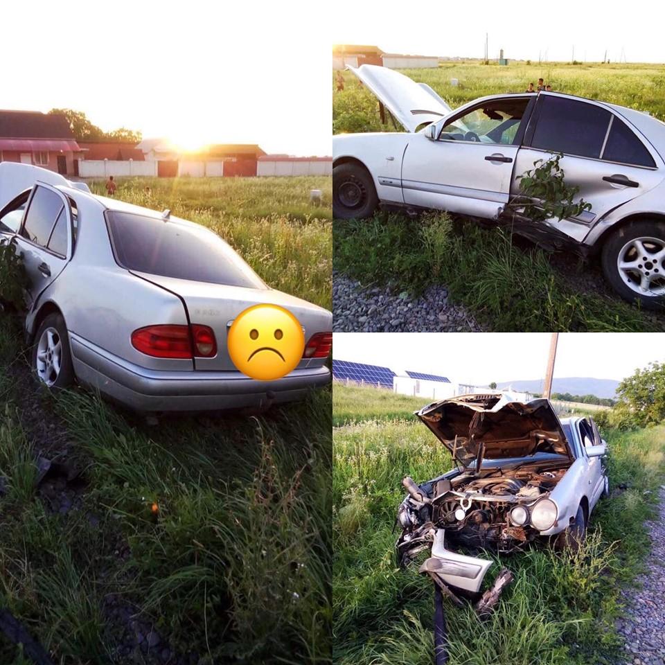 Автомобіль вилетів у кювет.