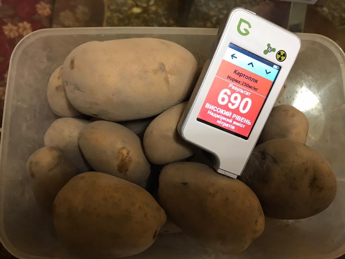 Картопля та редиска куплені на оптовому базарі виявилася небезпечною.