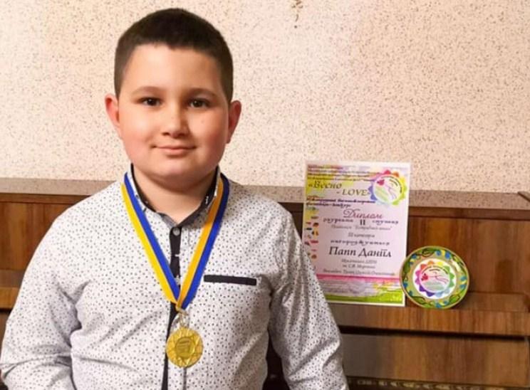 Юний мукачівець став лауреатом фестивалю-конкурсу «Весно-Love».