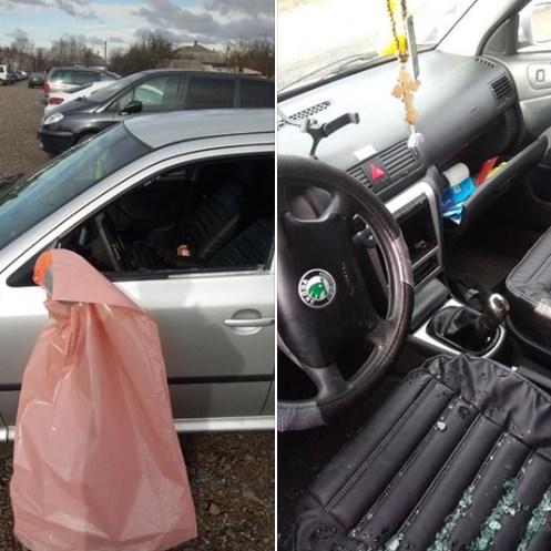 На одній із автівок, які припарковані на платній стоянці в словацькому селі Вельке Сельменце, розбили вікно.