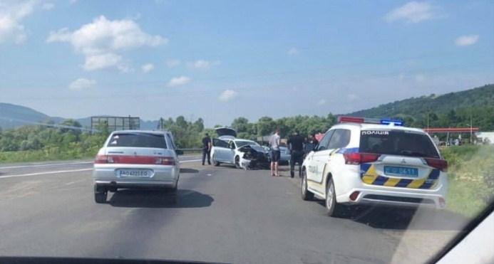 Автопригода трапилася сьогодні у місті Свалява.