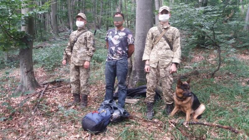 Учора прикордонники Чопського загону затримали іноземця, який намагався незаконно потрапити у Словаччину.