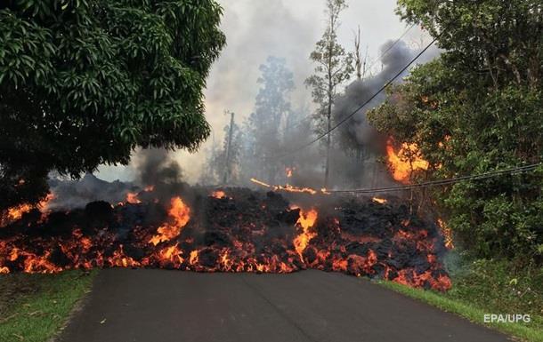 На Гаваях магма з вулкана тече прямо по вулицях