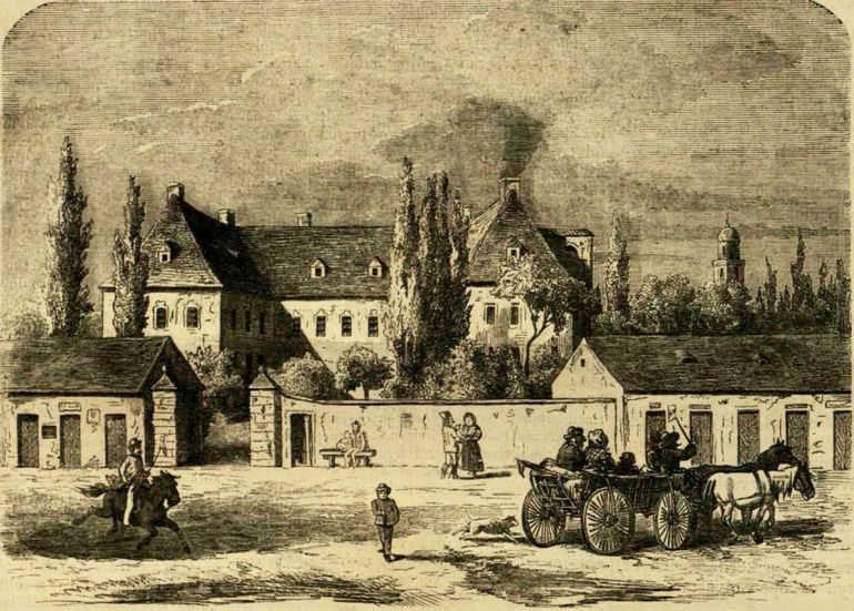Литография в 1863 году из газеты Васарнапи Уйсёг.